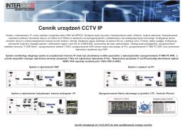Cennik urządzeń CCTV IP