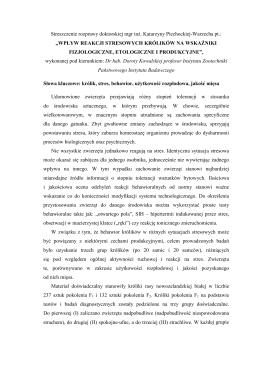 Streszczenie rozprawy doktorskiej Katarzyna Piechocka