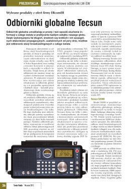 Odbiorniki globalne Tecsun - artykuł Świat Radio 9/2015