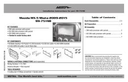 Mazda MX-5 Miata 2009-2015 99-7519B
