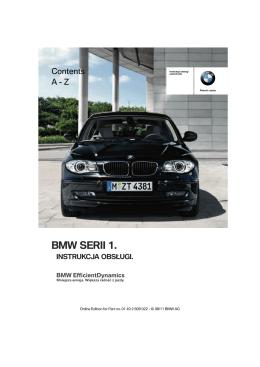 bmw serii 1. instrukcja obsługi.