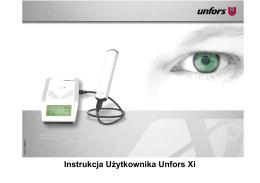 Instrukcja Użytkownika Unfors Xi