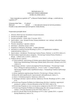 całość protokołu z 4 sesji rady powiatu z dnia 26-02-2015