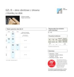 GZL B – okno obrotowe z drewna z klamką na dole