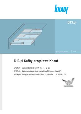 D13.pl Sufity przęsłowe Knauf D13.pl