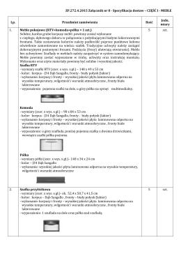 ZP.272.4.2015 Załącznik nr 8 Specyfikacja dostaw Część I