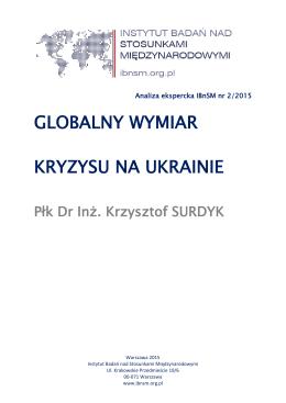 globalny wymiar kryzysu ukraińskiego