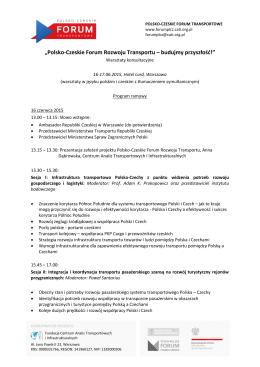 """""""Polsko-Czeskie Forum Rozwoju Transportu – budujmy przyszłość"""