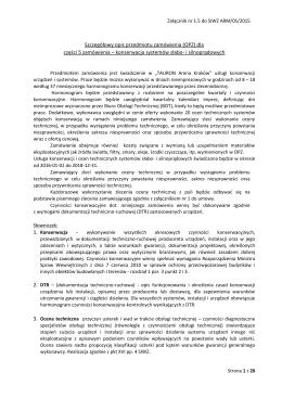 Załącznik nr 1.5 do SIWZ Szczegółowy OPZ część 5 Konserwacja