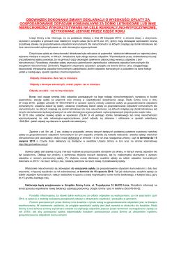 obowiązek dokonania zmiany deklaracji o wysokości