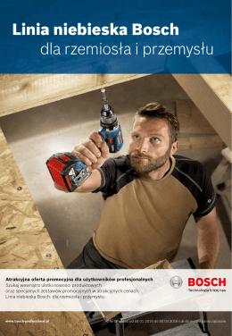 Linia niebieska Bosch dla rzemiosła i przemysłu