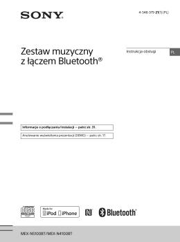 Zestaw muzyczny z łączem Bluetooth®