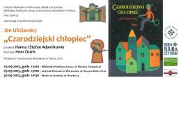 czarodziejski chlopiec.cdr - Instytut Słowacki w Warszawie