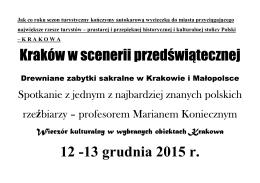 Kraków w scenerii przedświątecznej 12