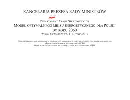Model optymalnego miksu energetycznego dla Polski do roku 2060