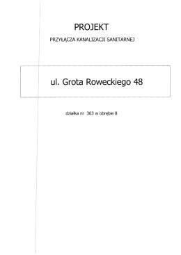 PROJEKT ul. Grota Roweckiego 48