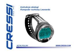 Instrukcja obsługi komputera nurkowego Leonardo.
