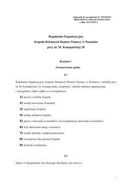 Regulamin Organizacyjny ZDDP