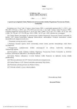 w sprawie przystąpienia Gminy Piątnica do stowarzyszenia LOTZŁ