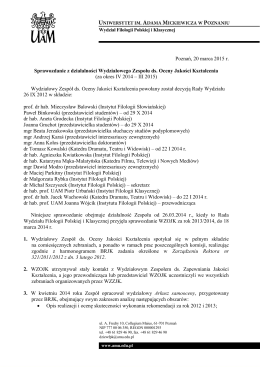 Sprawozdanie z działalności WZOJK III 2015
