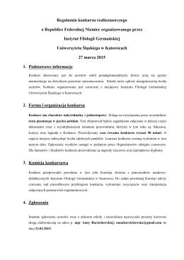 Regulamin - Instytut Filologii Germańskiej