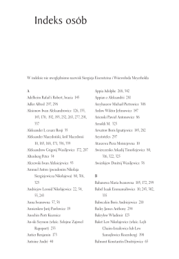 Indeks osób - Wydawnictwo SEDNO