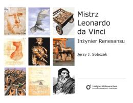 Mistrz Leonardo da Vinci. Inżynier Renesansu