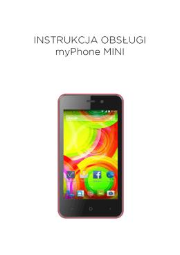 INSTRUKCJA OBSŁUGI myPhone MINI