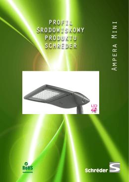Schréder Profil Środowiskowy Produktu