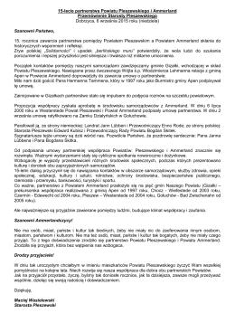 15-lecie partnerstwa Powiatu Pleszewskiego i Ammerland