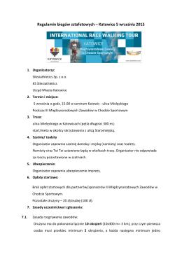 Regulamin biegow sztafetowych 05-09-2015