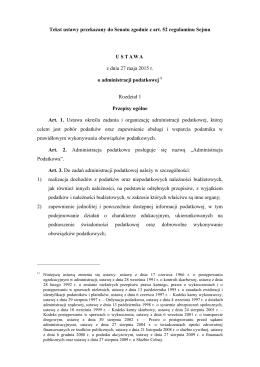 Tekst ustawy z dnia 27 maja 2015 r. o administracji podatkowej