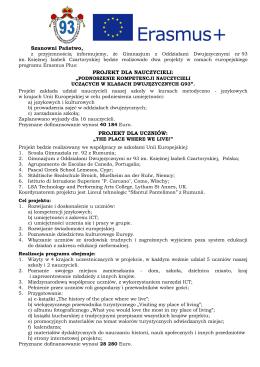 Gimnazjum z Oddziałami Dwujęzycznymi nr 93 im