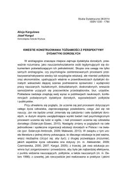 tekst - Studia Dydaktyczne