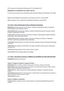 IX Dni Japonii na Uniwersytecie Warszawskim 16