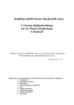 Kodeks Równego Traktowania V LO