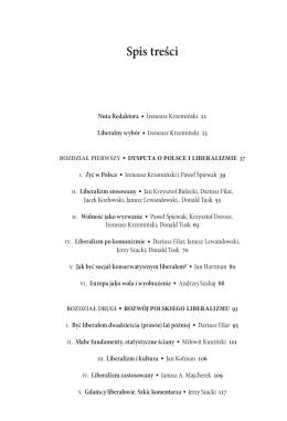 Spis treści - Wydawnictwo SEDNO
