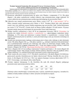 77. Kosmiczne mikrofalowe promieniowania tła opisu wzór Plancka