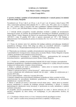 UCHWAŁA Nr VIII/90/2015 Rady Miasta i Gminy w Margoninie z
