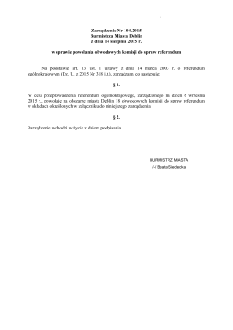 Składy obwodowych komisji ds. referendum w Dęblinie