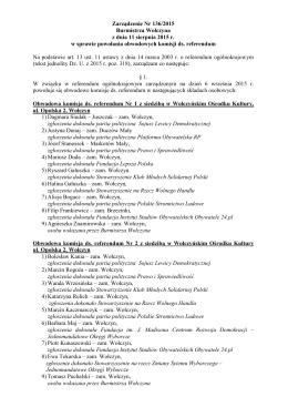 Składy Obwodowych kmisji ds. referendum