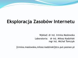 Eksploracja Zasobów Internetu
