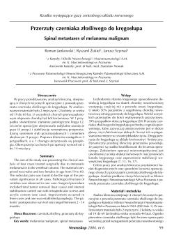 Bez tytu³u-1 - Katedra i Klinika Neurochirurgii i Neurotraumatologii