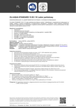 OLI-AQUA STANDARD 15.50 I 1K Lakier parkietowy