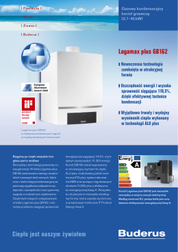 Ciepło jest naszym żywiołem Logamax plus GB162