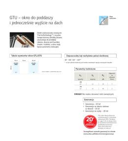 GTU – okno do poddaszy i jednocześnie wyjście na dach