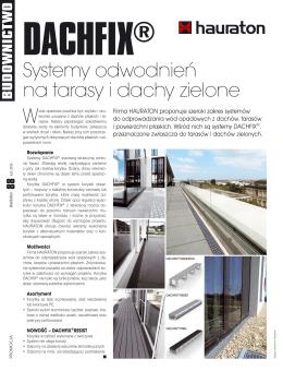 Systemy odwodnień na tarasy i dachy zielone DACHFIX (PDF, 700