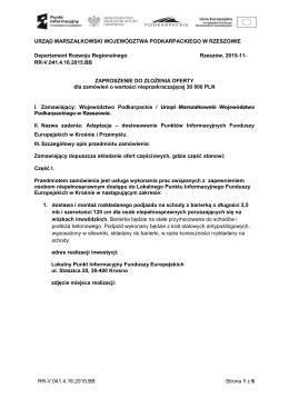 Zaproszenie do składania ofert -remont 13.11.15