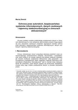 dr Maciej Siwicki, adiunkt UMK w Toruniu Ochrona praw autorskich