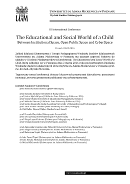 The Educational and Social World of a Child